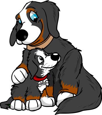 Ripley with his mom, Lodi